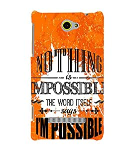Nothing is Impossible 3D Hard Polycarbonate Designer Back Case Cover for HTC Windows 8S