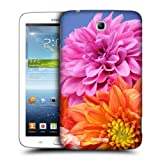 Head Case Designs Orange and Pink Dahlias Flowers Protective Snap-on Hard Back Case Cover for Samsung Galaxy Tab 3 7.0 P3200 T210 WiFi