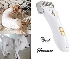 Cordless Dog Clippers - Electric Hair Trimmer - Rechargeable Pet Grooming Clipper - Low Noise Electric Clippers For Large, Medium, Small Dogs and Cats - By ALSTEN
