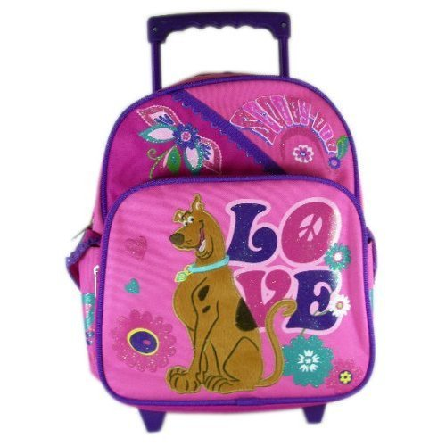 """Scooby Doo """"Peace & Love"""" Toddler 12"""" Rolling Backpack"""