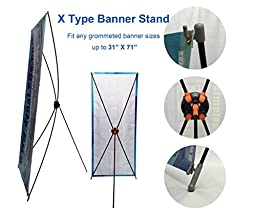 TheDisplayDeal X type Banner Stand for Grommated Banner Sizes 32\