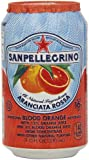 San Pellegrino BLOOD ORANGE,(6 PACK) , 11.15 oz CANS