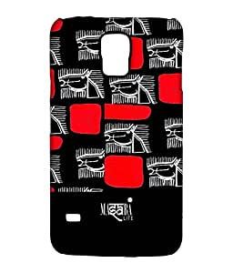 Masaba Red Line Horses - Sublime Case for Samsung S5