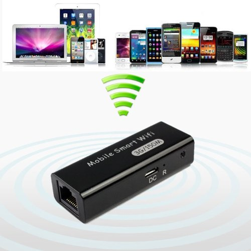 Bestpriceam (TM) New Mini USB Portable 3g/4g Wireless Wifi Ieee 802.11b/g/n 150mbps Ap Router Blue (Black)