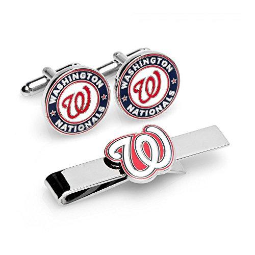 Washington Nationals Cufflinks and Tie Bar Gift Set
