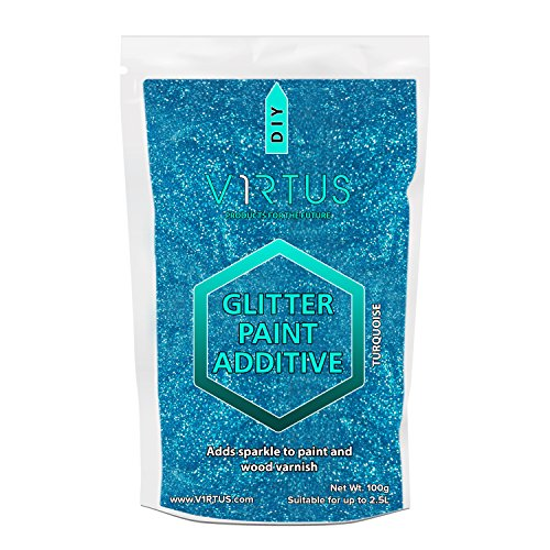 v1rtus-turquoise-glitter-paint-crystals-additive-100g-for-emulsion-paint-for-use-with-interior-exter