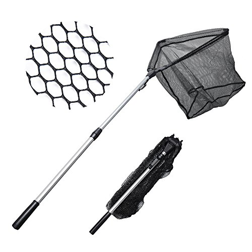 MadBite Fishing Net Safe Catch & Release Fish Landing Net, Foldable, Telescoping - Durable, Strong Yet Light Weight (24