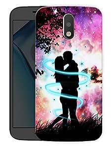 "Love All Around CouplePrinted Designer Mobile Back Cover For ""Motorola Moto G4"" (3D, Matte, Premium Quality Snap On Case)"