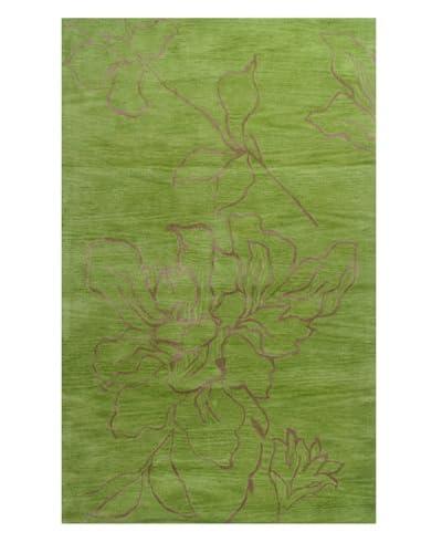Meva Rugs Flora Rug, Green, 5′ x 8′