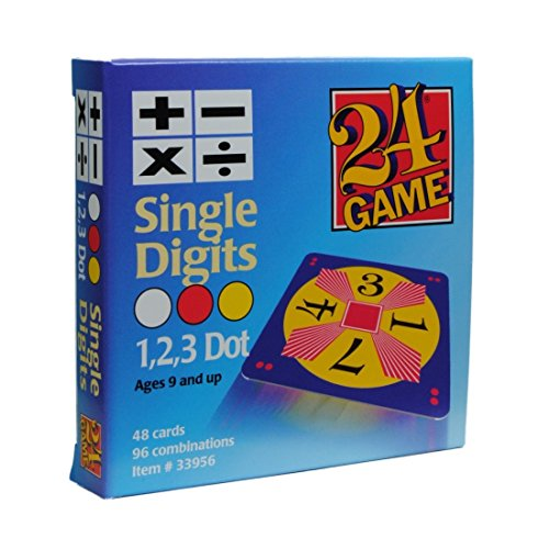 24 Game: 48 Card Deck, Single Digit cards Math Game (Digits In A Box compare prices)