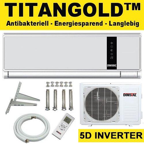 5d inverter klimaanlage klasse a a dimstal antibakterielle titangold tm split klima anlage. Black Bedroom Furniture Sets. Home Design Ideas