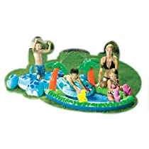 Intex Hippo & Coco Fun Play Center Splash Pool Inflatable Toddler Swim Slide