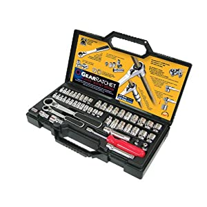 "GearWrench GearRatchet 30049 Vortex Pass-Thru Socket Set 1/4"" and 3/8"" Drive, 49-Piece from GearWrench"
