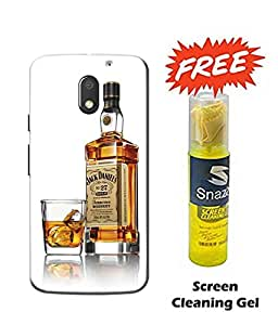 Case Cover Wine Printed Multicolor Hard Back Cover For Moto e3 Power Smartphone (Screen Cleaning Gel Free)