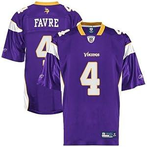 Brett Favre Jersey: Reebok Purple Replica #4 Minnesota Vikings Jersey by Reebok