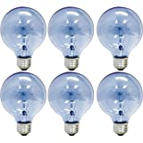 GE Lighting 48694 Reveal 40-watt 265-Lumen G25 Light Bulb with Medium Base, 6-Pack
