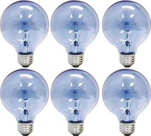 Ge Lighting 48694 Reveal 40 Watt 265 Lumen G25 Light Bulb With Medium Base 6 Pack