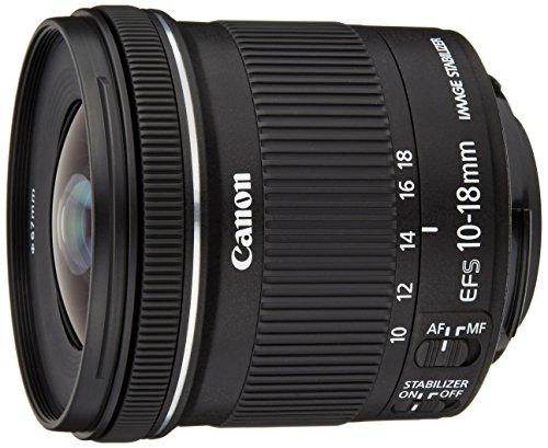 Canon EF-S10-18ISSTM 10-18 mm f/4.5-5.6 IS STM Obiettivo Ultragrandangolare con Zoom, per formato APS-C, Nero/Antracite