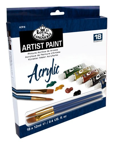 Royal and Langnickel 18 Colour Acrylic Tubes