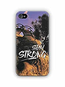 YuBingo Stay Strong Designer Mobile Case Back Cover for Apple iPhone 4S