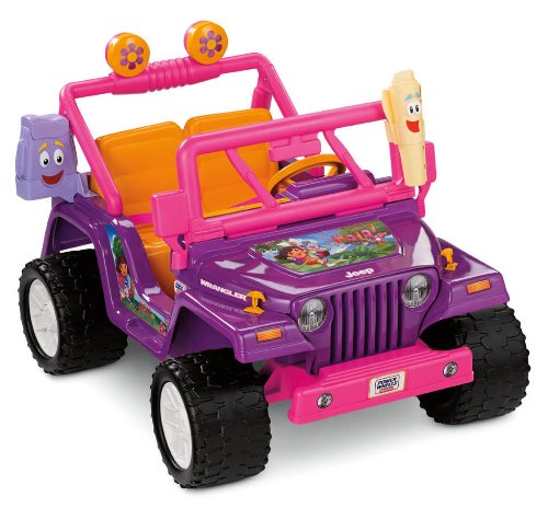 Fisher-Price Power Wheels Dora The Explorer Jeep Wrangler