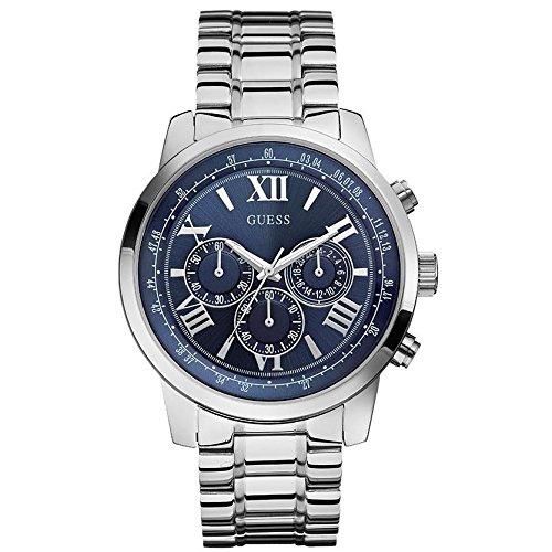 Guess - Orologio da polso, cronografo al quarzo, acciaio inox