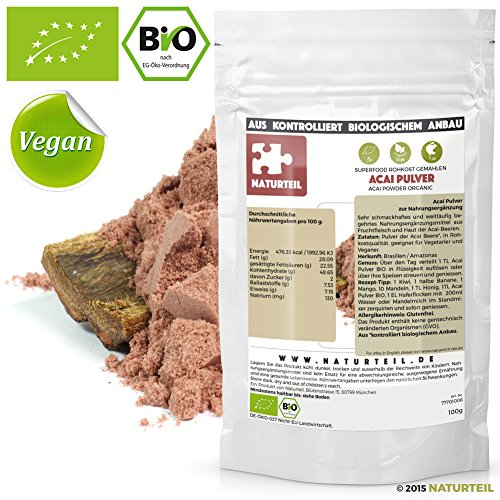 Naturteil - BIO ACAI PULVER / Superfood in Rohkostqualität, Organic, Raw, Vegan - 100G