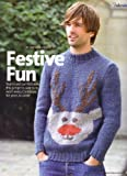 Amanda Jones Festive Fun Men's Christmas Reindeer Motif Sweater Knitting Pattern: To fit chest 36