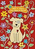 Toland Home Garden Dog Bone Garden Flag, Red 119507