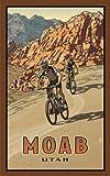 Northwest Art Mall RRB Moab Utah Bikers Artwork by Paul B. Leighton, 11-Inch by 17-Inch