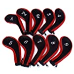 10 Golf Clubs Iron Set Headcovers Hea...
