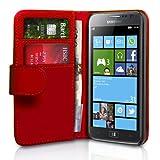 """Samsung Ativ S Tasche Samsung Ativ S Rot PU Leder Brieftasche H�llevon """"Yousave Accessories�"""""""