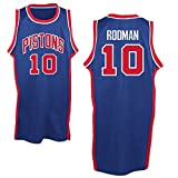 Mens Dennis Rodman #10 Detroit Pistons Royal Blue Classics Jersey M
