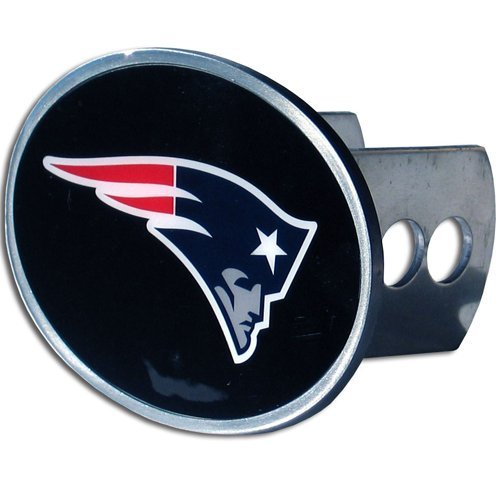 NFL New England Patriots Oval Hitch Cover, Class II & III (Metal Trailer Hitch Plug compare prices)