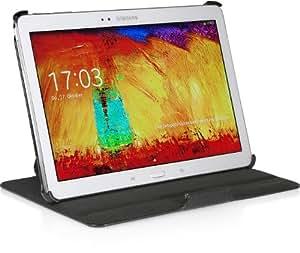 StilGut UltraSlim Case V2, Tasche mit Stand- und Präsentationsfunktion für Samsung Galaxy Note 10.1 2014 Edition, schwarz vintage