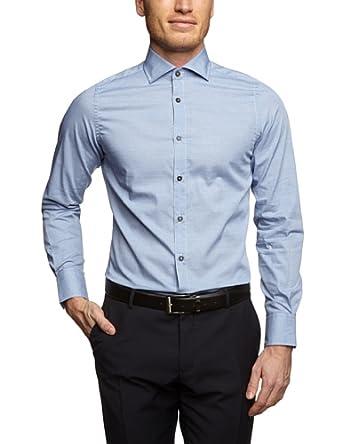 TOM TAILOR Herren Regular Fit Businesshemd Deluxe fil à shirt/401, Gr. XX-Large, Blau (federal blue)
