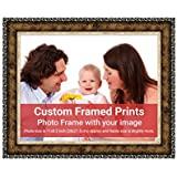Averprint Photo Frame Personalized Picture Frame With Custom Photo / Your Image Print 11x8.5 Inch (28x21 Cm Framed)