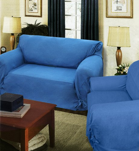 "DENIM Loosefit Loveseat Cover 60-73"" arm to arm"