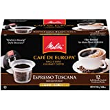 Melitta Single Cup Coffee for K-Cup Brewers, Cafe de Europa Espresso Toscana, Extra Dark Roast, 12 Count