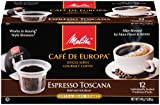 Melitta Single Cup Coffee for K-Cup Brewers, Cafe de Europa Espresso Toscana, Extra Dark Roast, 12 Count