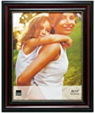 Kiera Grace Lucy Picture Frame, 8 by 10-Inch, Dark Brown with Gold Beading
