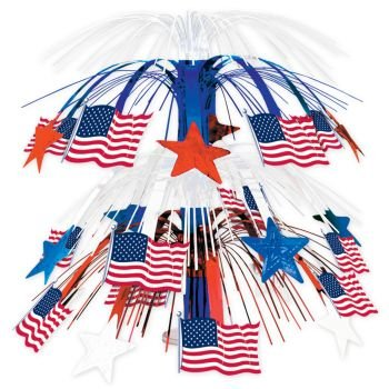 Beistle 50743 Flag Cascade Centerpiece, 18-Inch