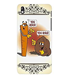 ColourCraft Funny Rock-Rule Design Back Case Cover for HTC DESIRE 816