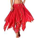 Seawhisper Flames Costumes Flame Dresses for Women Latin Dance Costume Red Maxi Skirt Size 2 4 6 8 10 12 14