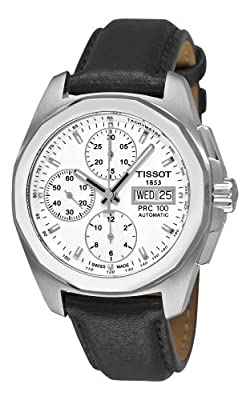Tissot Men's T0084141603100 PRC 100 White Chronograph Dial Watch