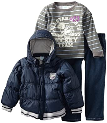 Baby Togs Boys 2-7 Jacket Set, Navy, 4
