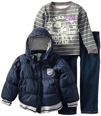Baby Togs Little Boys' Jacket Set, Navy, 4