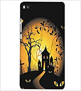 HUAWEI P8 GHOST HOUSE Designer Back Cover Case By PRINTSWAG