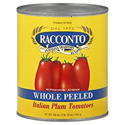 Racconto Imp. Italian Whole Peeled, 28-Ounce Cans (Pack of 12)