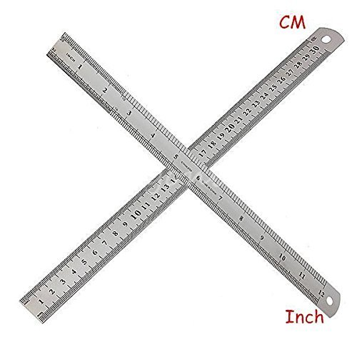 30cm 12Inch Stainless Steel Metal Ruler Precision Double Sided Measuring Tool (Stainless Steel Ruler 36 compare prices)